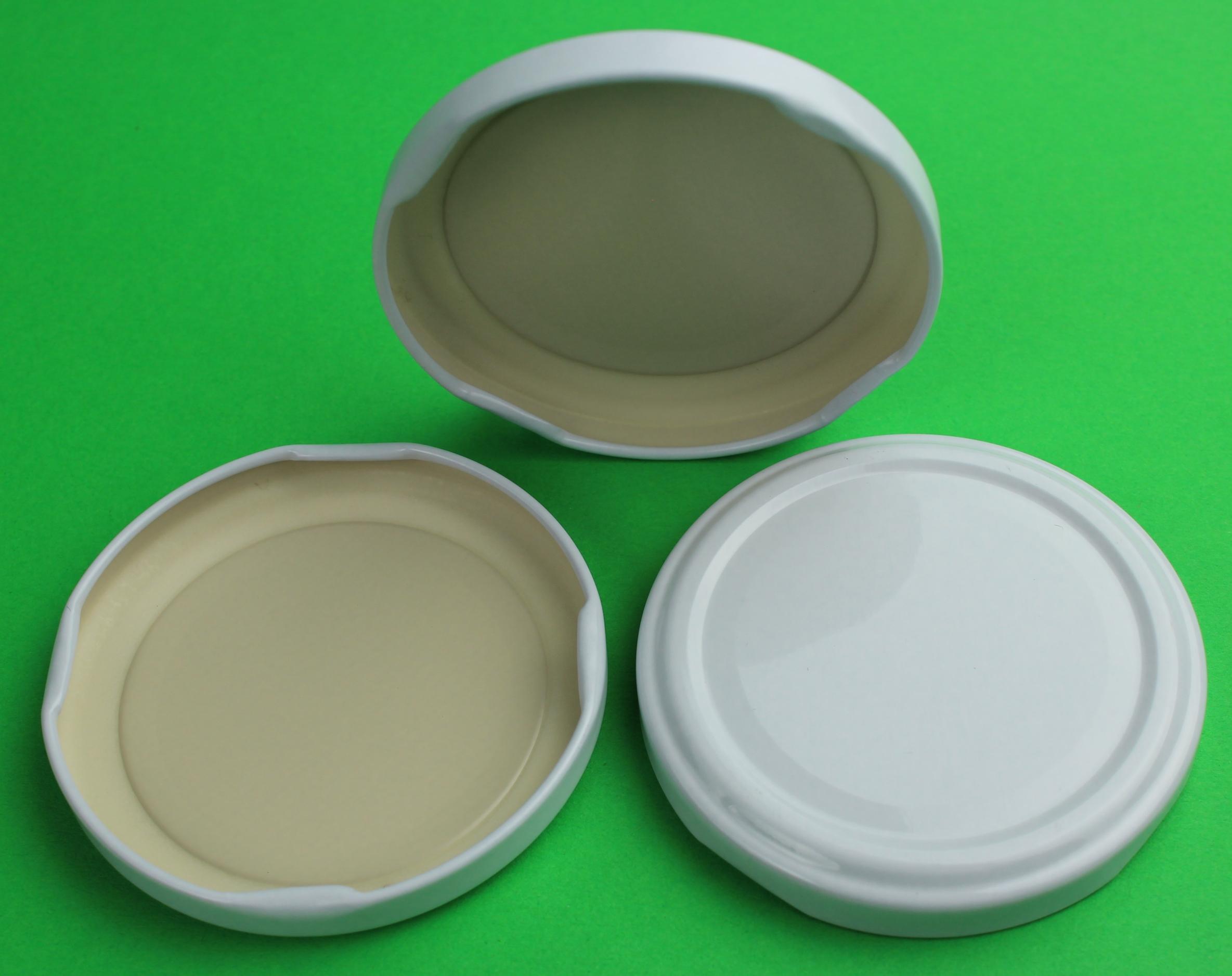 Deckel Für Gläser 66 Mm Twist Off Farbe Weiss